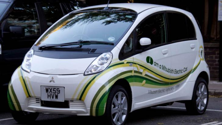 Use electric car to promote green driving